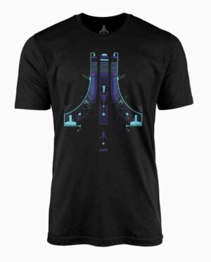 Atari Spaceship Logo Black T-Shirt