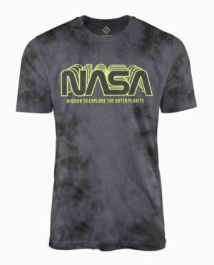 NASA Black Wash Neon Logo T-Shirt Main Image