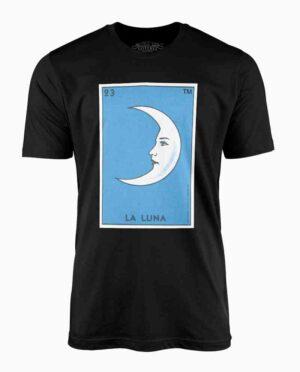 Loteria La Luna Black T-Shirt Main Image