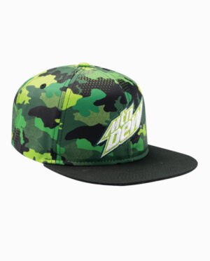 Mountain Dew Green and Black Camo Snapback Hat