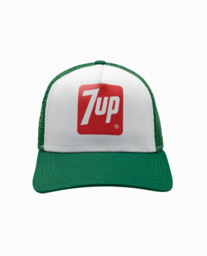7Up Green and White Trucker Snapback Hat