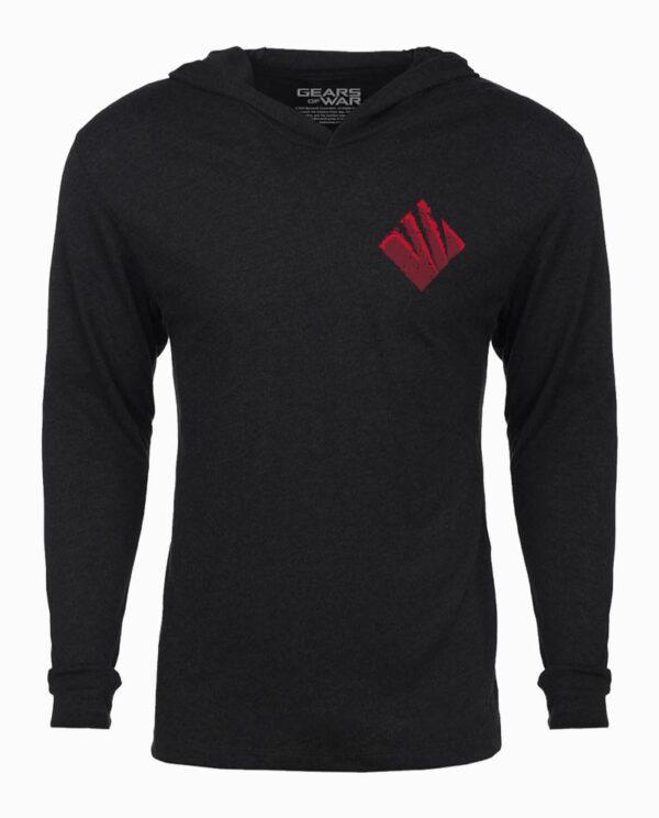 Gears of War Swarm Metal Long Sleeve Hooded T-Shirt Main Image