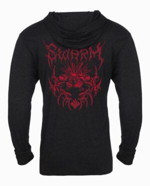 Gears of War Swarm Metal Long Sleeve Hooded T-Shirt Back Main Image