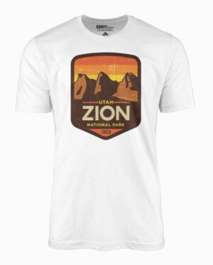 Zion National Park White T-Shirt Main Image