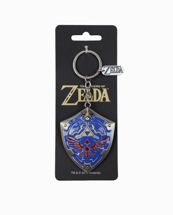 Nintendo Zelda - Hylian Shield 3D Metal Keychain