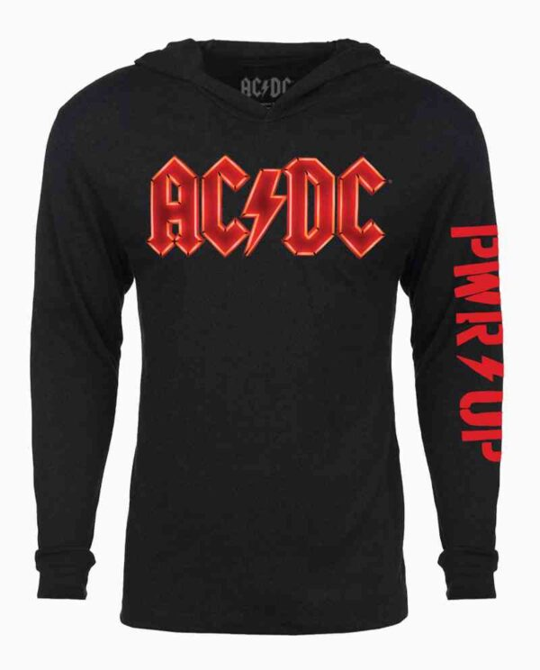 AC/DC Pwr Up Long Sleeve Hooded T-Shirt Main Image