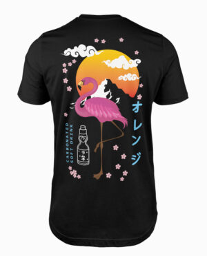 Ramune Black Flamingo T-Shirt