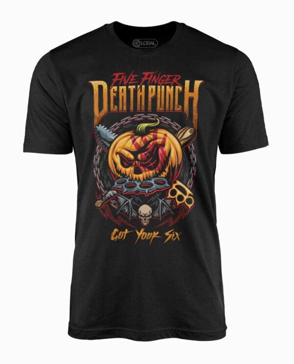Five Finger Death Punch Got Your Six Halloween Black T-Shirt