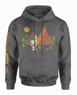 Peanuts Snoopy Great Outdoors Charcoal Hooded Sweatshirt