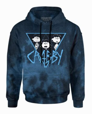 Peanuts Crabby Lucy Blue-Black Wash Hoodie Main Image