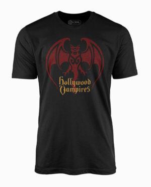 Hollywood Vampires Bat Logo Black T-Shirt