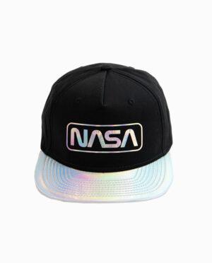 NASA Reflective Brim Black Snapback