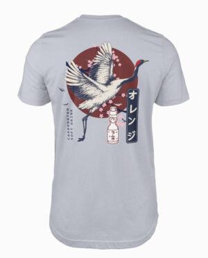 Ramune Crane Silver T-Shirt